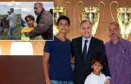 اللاجئ السوري أسامة عبد المحسن ونجليه في أحضان النادي الملكي